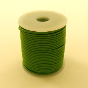 HALF PRICE Bright Green 2mm Round Leather Lacing 25 Metres