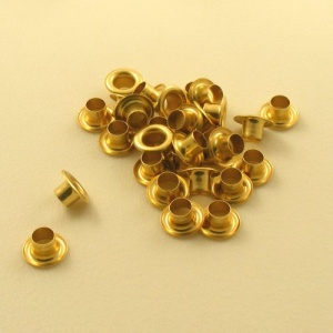 6.3mm Brass Plated Eyelets / Grommets 1/4''