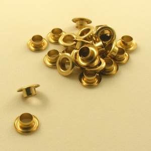 7.9mm Brass Plated Eyelets / Grommets