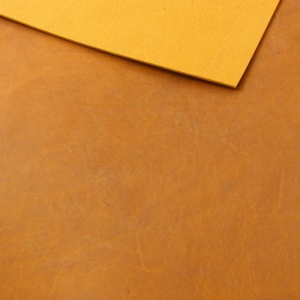 1.5-1.7mm Tan Matt Rustic Vegetable Tanned Cowhide A4 Size