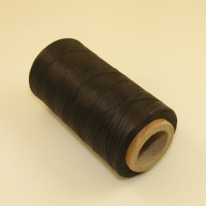 0.6mm Waxed & Braided Polyester Thread Dark Brown 300 Metres