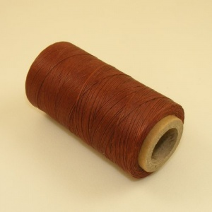 0.6mm Waxed & Braided Polyester Thread Dark Tan 300 metres