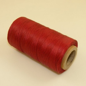 0.6mm Waxed & Braided Polyester Thread Dark Red 300 Metres