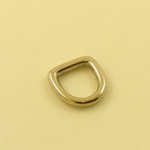 12mm 1/2'' Nickel Plated Rounded Deep D Ring