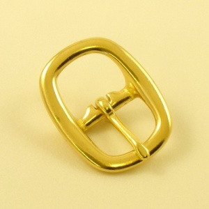 19mm Oval Brass Swage Buckle