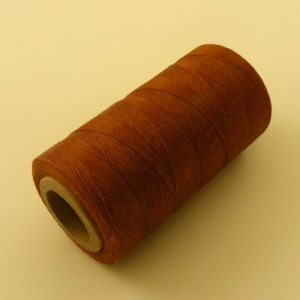 0.4mm Waxed & Braided Polyester Thread Tan 400M