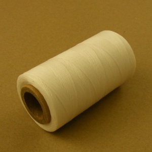 0.4mm Waxed & Braided Polyester Thread White 400m