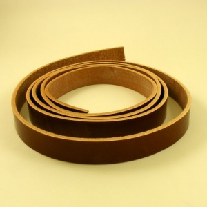 EXTRA LONG Conker Tan 4mm HEAVY Saddlery Leather Strips