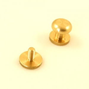EXTRA LARGE Solid Brass Sam Browne Stud