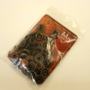 15mm Bronze / Copper effect Press Studs Ivan Brand