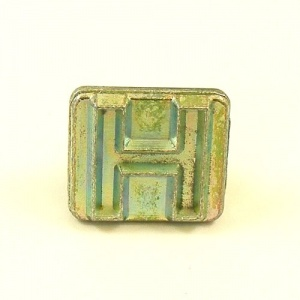 20mm Modern Letter H Embossing Stamp
