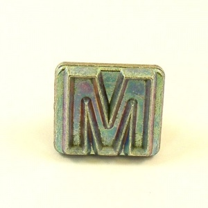 20mm Block Letter M Embossing Stamp