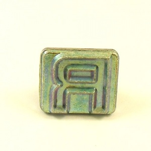 20mm Block Letter R Embossing Stamp