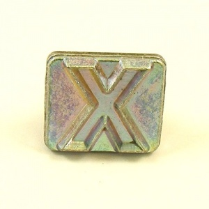 20mm Block Letter X Embossing Stamp