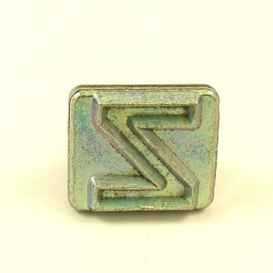 20mm Modern Letter Z Embossing Stamp