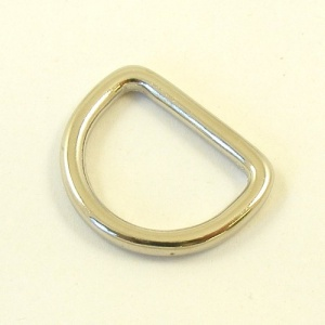 20mm 3/4'' Nickel Silver Shallow  D Ring