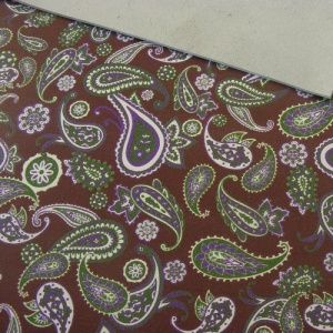 1.4mm Burgundy Paisley Print Leather 30x60cm