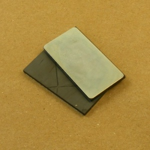 TO CLEAR Magnets for Bag Flap Closure - Large Rectangle