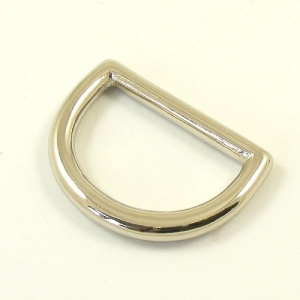 25mm 1'' Nickel Silver Shallow D Ring