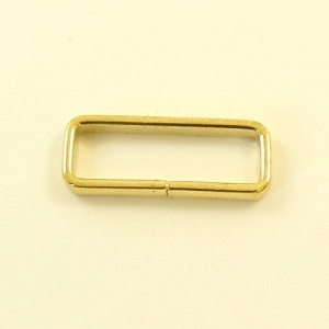 Slim Belt Loops Brass Plated 25mm