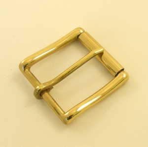 Solid Brass Roller Belt Buckle 1 1/2 38mm