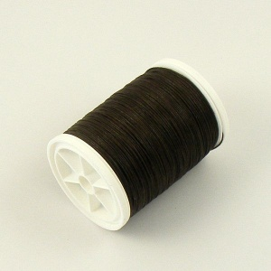 Dark Brown Linen Sewing Thread Gruschwitz Braun 100