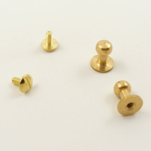 Large Tall Sam Browne Studs - Brass - Pack of 10