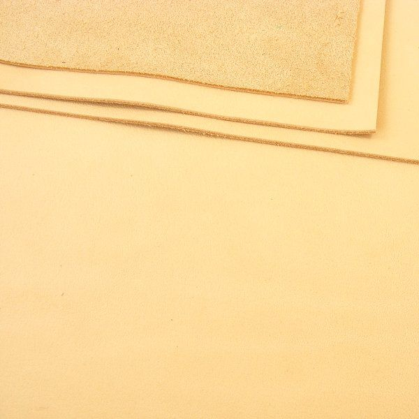 c39a710c92a26 0.8- 1mm Undyed Veg Tan Leather 30x60cm - artisanleather.co.uk