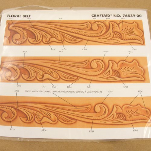 Tandy Leather Floral Belt Craftaid� 76539-00