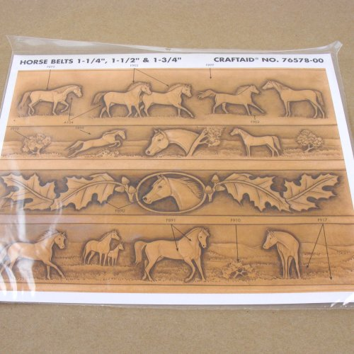 Tandy Leather Craftaid Plastic Horse Belt Template 76578-00