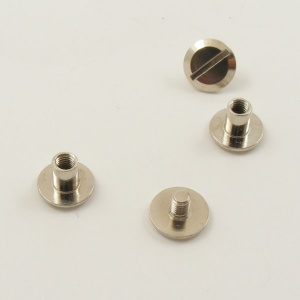 5mm Small Leather Joining Screws - Nickel Plated - Pack of 2