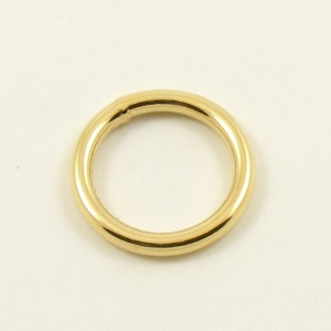 O Ring Brass Plated Steel 20mm 3/4''