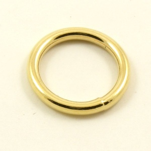 O Ring Brass Plated Steel 25mm 1 inch
