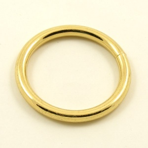 O Ring Brass Plated Steel 38mm 1 1/2''