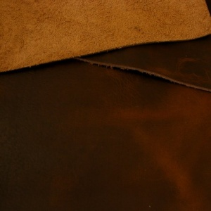 1.8-2mm Nut Brown Rustic Style Leather A4