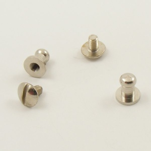 Small Narrow Sam Browne Stud - Silver - Pack of 2
