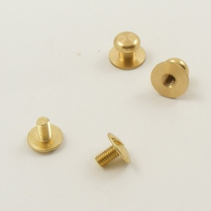Small Wide Sam Browne Stud - Brass - Pack of 10
