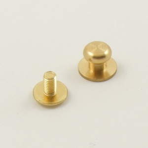 Small Wide Sam Browne Stud - Brass - Pack of 2