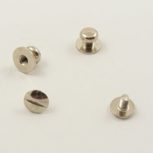 Small Wide Sam Browne Stud - Silver - Pack of 10