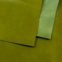 0.8-1mm Glossy Cowhide Apple Green 30x60cm