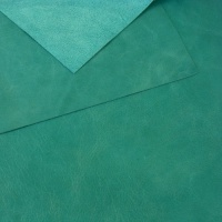 0.8-1mm Glossy Cowhide Turquoise A4
