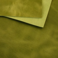 2mm Lime Green Rustic Style Leather A4