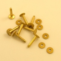 10 Gauge (Small) Ivan Brand Brass Rivets - Pack of 8