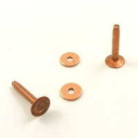 10 Gauge Copper Rivets - Smooth Base - Pack of 10