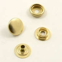 SALE 15mm Brass Plated Press Studs x 10