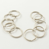 10 Large Nickel Plated Split Rings 1'' 25mm
