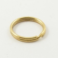 "100 Medium Split Rings Brass Plated 3/4"" 20mm"