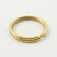 100 Small 12mm Split Rings Brass Plated