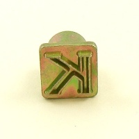 12mm Modern Letter K Embossing Stamp