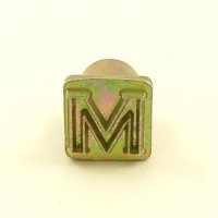 12mm Modern Letter M Embossing Stamp